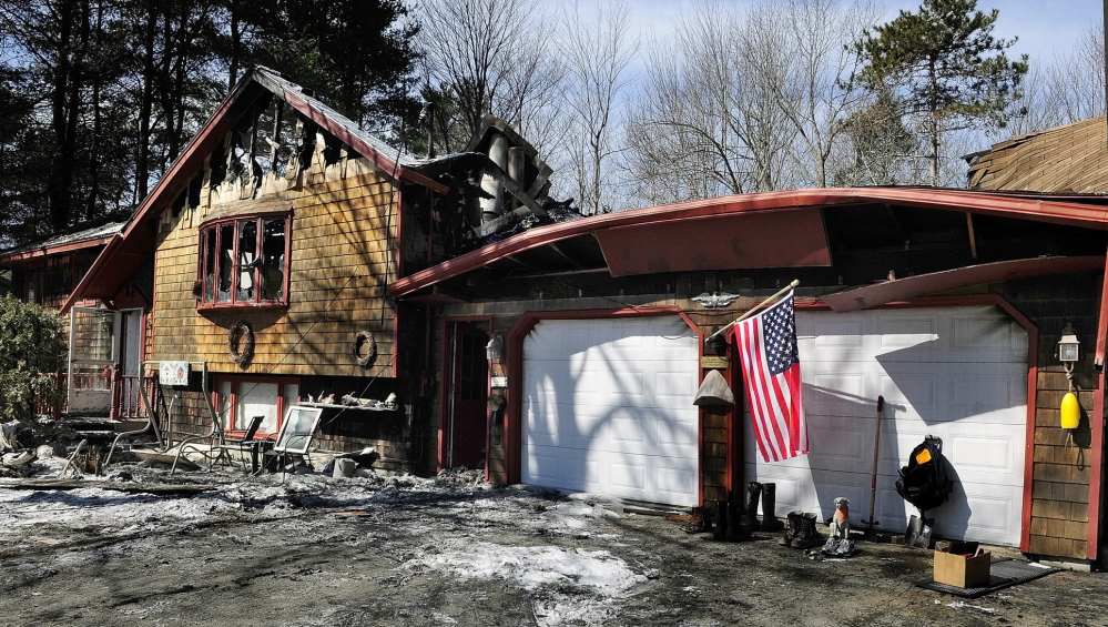 Winthrop fire: An overnight fire heavily damaged a home at 72 Annabessacook Drive.