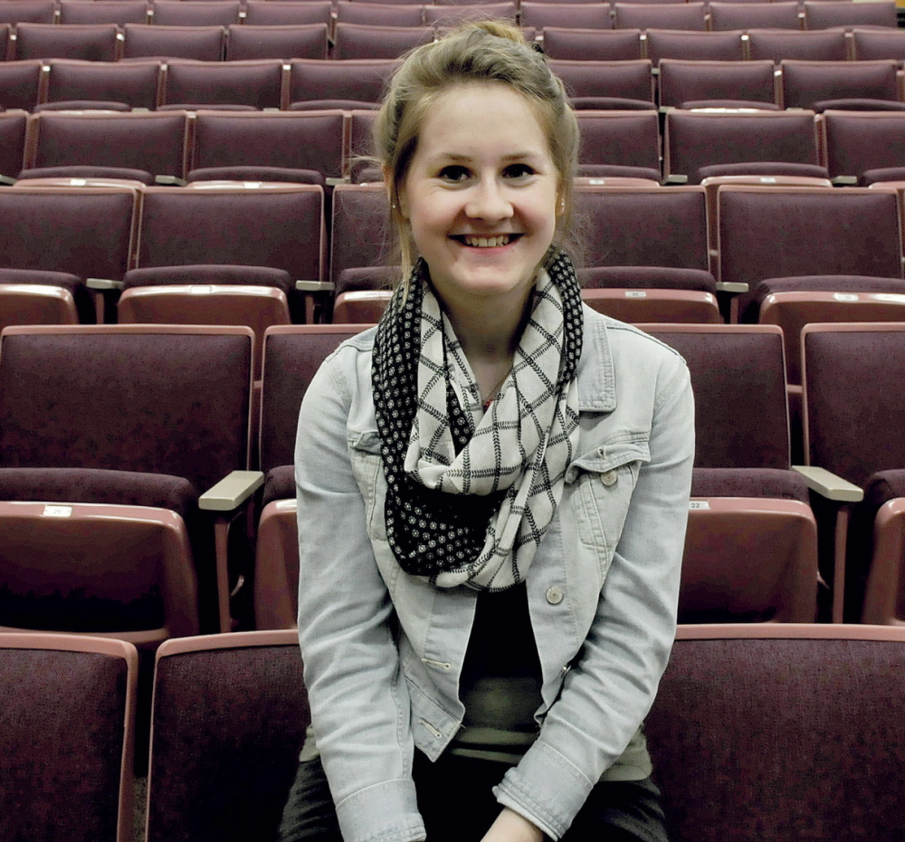 HUMANE SINGER: Messalonskee High School student Darby Martin will perform this Saturday at the Messalonskee High School Performing Arts Center in Oakland to benefit the Waterville Area Humane Society.