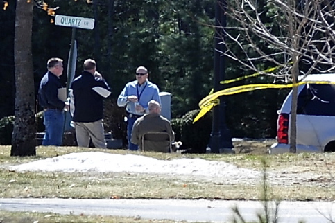 Maine State Police investigate the shooting of Stephen McKenney at 2 Searsmont Way in Windham on Saturday.