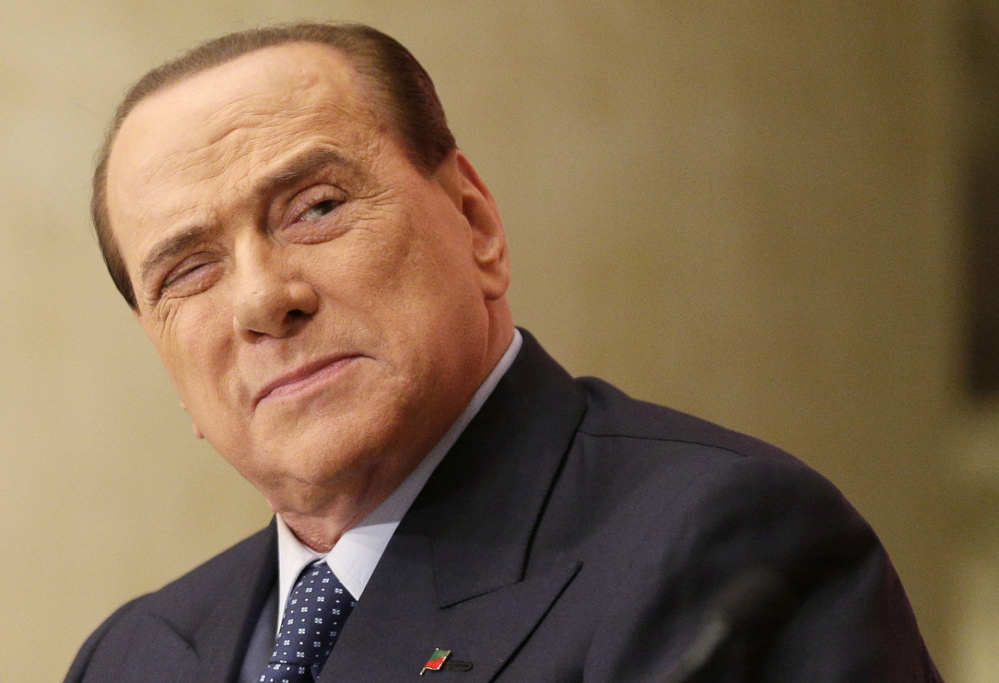 Silvio Berlusconi, 77, cannot run due to his tax fraud conviction but remains a political force as head of Forza Italia.