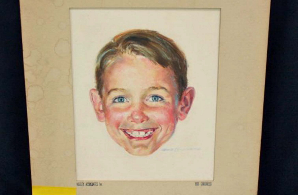 "A watercolor of Dick from the ""Dick and Jane"" series is among the artwork by Robert Childress to be sold at auction. The ""Dick and Jane"" series helped teach generations of children to read."
