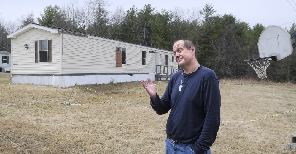 CONTAMINATION: John Wilson and other residents of a trailer park in Richmond are without water and sewer because of contamination of a nearby stream. Residents of the park, Meadow Brook, are hoping a court will force the owner to make repairs.
