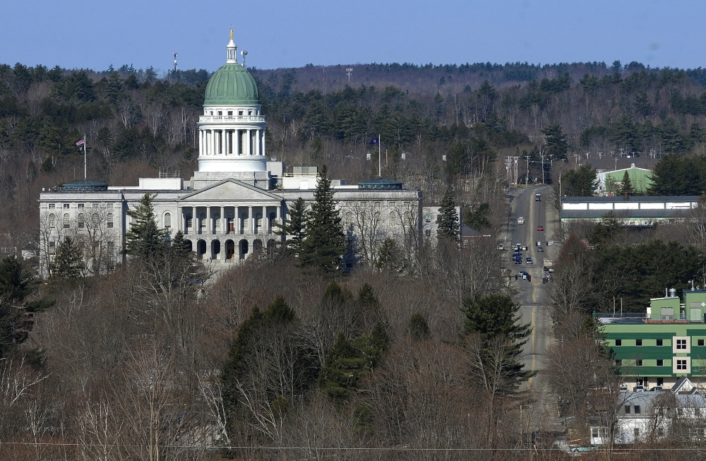 Old Dome: File photo of Maine State House taken on April 2 in Augusta.
