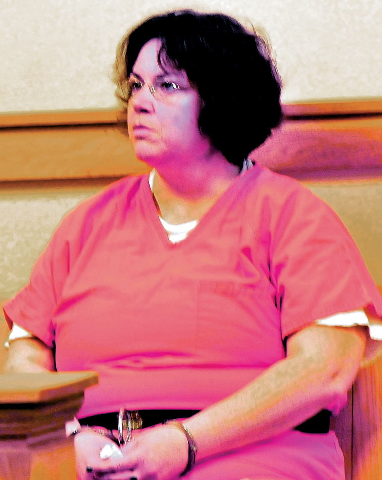 PLEA CHANGE: Michele Corson waits for an extradition hearing in Skowhegan District Court in April 2013.