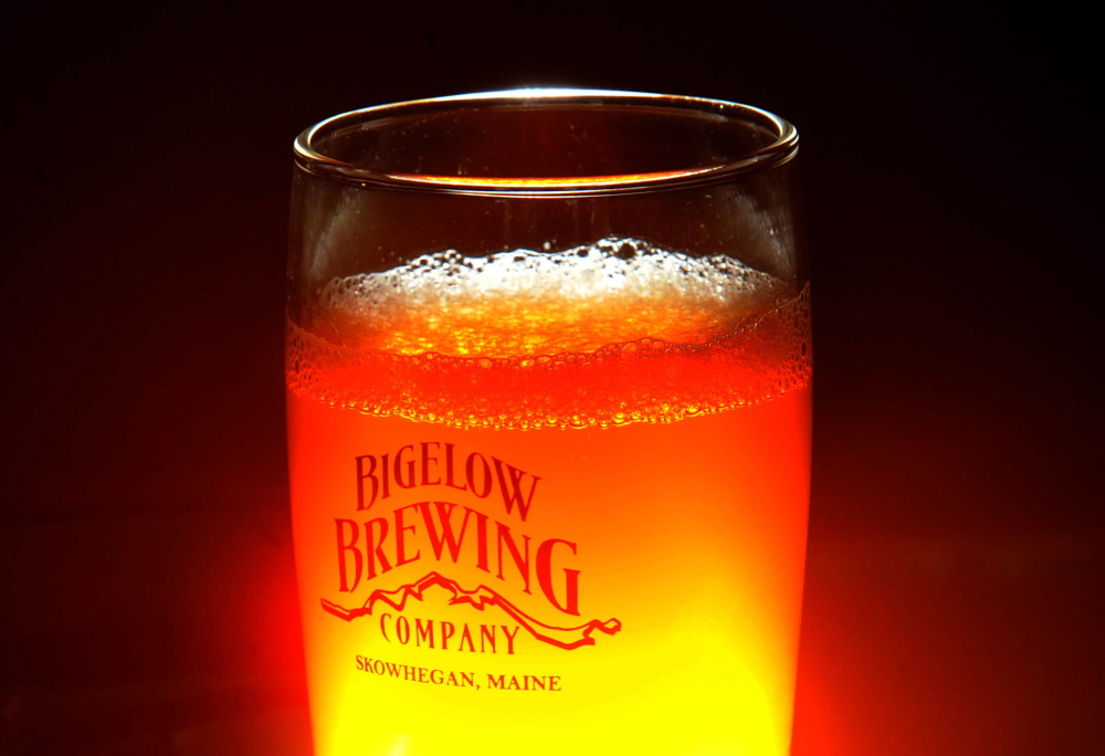 Staff photo by Michael G. Seamans Jeff Powers, owner of Bigelow Brewing Company, brewed this pale ale, Lying Bastard, at his brewery in Skowhegan on Tuesday. Bigelow Brewing Company has an open house on Saturday at the 473 Bigelow Hill Road location and will be offering free samples.