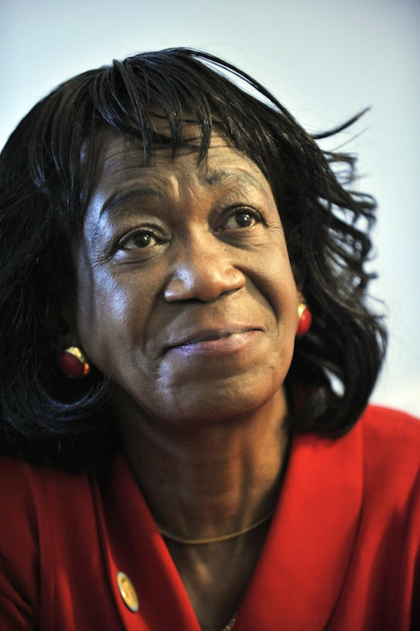 In this November 2009, file photo, President Barack Obama's aunt Zeituni Onyango. Onyango, whose status as an illegal immigrant was revealed days before Obama was elected in 2008, died Tuesday, April 8, 2014, said Cleveland attorney Margaret Wong, who represented Onyango in her immigration case. She was 61.