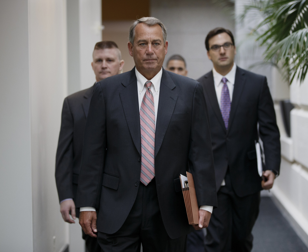 """House Speaker John Boehner said Monday that he's """"nudged"""" former Florida Gov. Jeb Bush to seek the Republican nomination for president in 2016."""