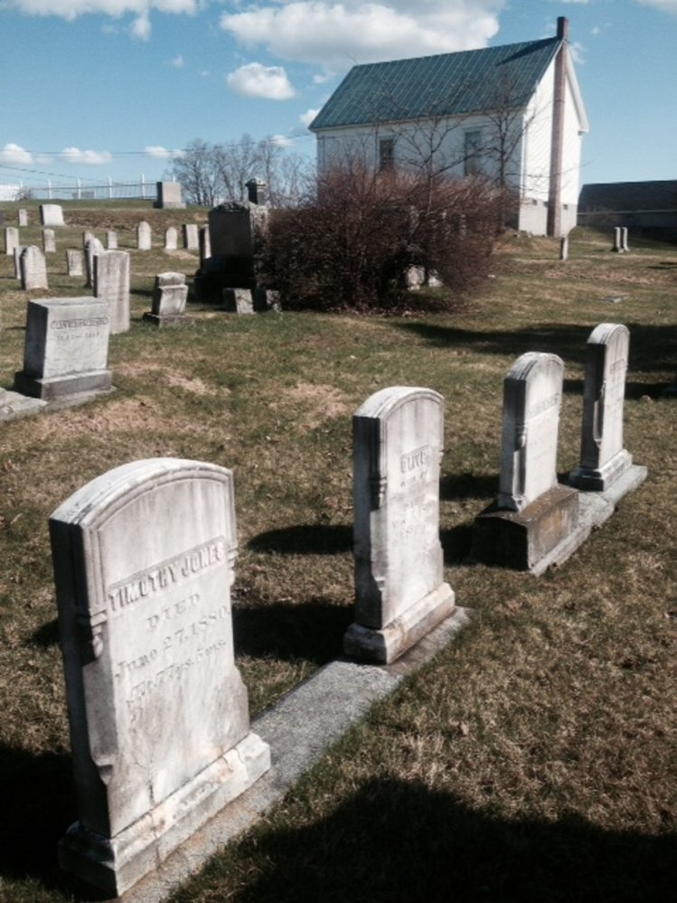 FRIENDS CEMETERY: The cemetery in North Fairfield where the grave site of Avery Lane has been vandalized three times in the last 18 months, according to her family. Avery's grave is to the right of those shown in this picture.