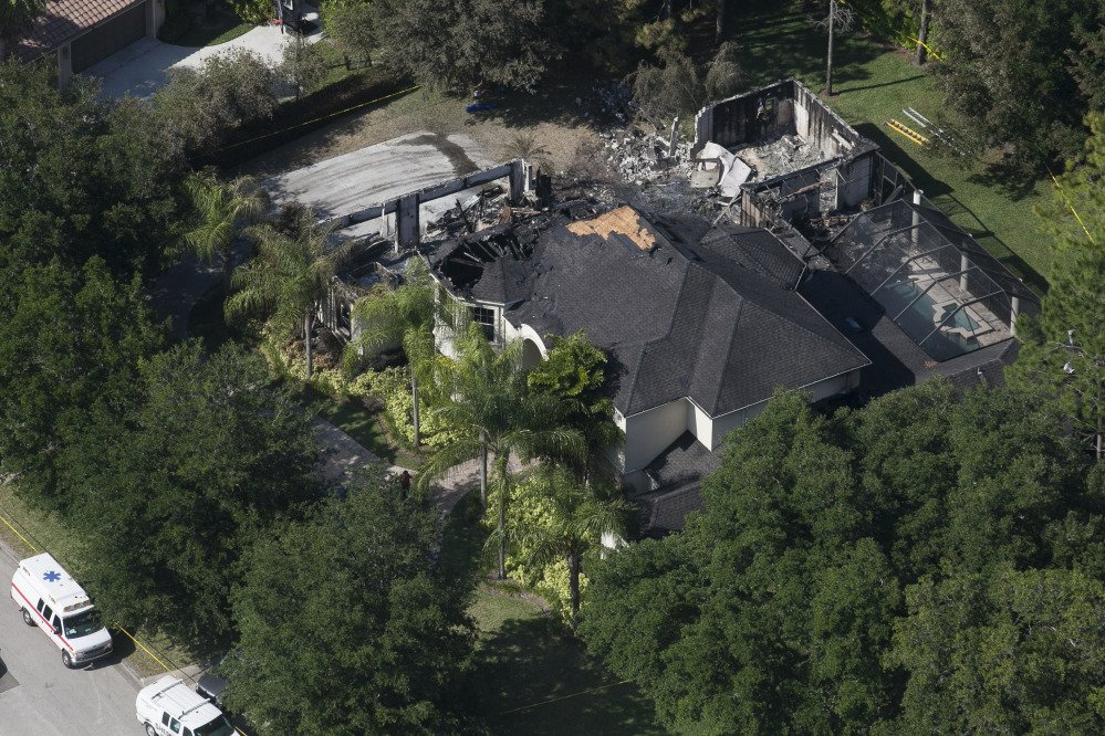 Authorities have said they think the fire at the Tampa mansion was intentionally set and that they found fireworks inside the home.