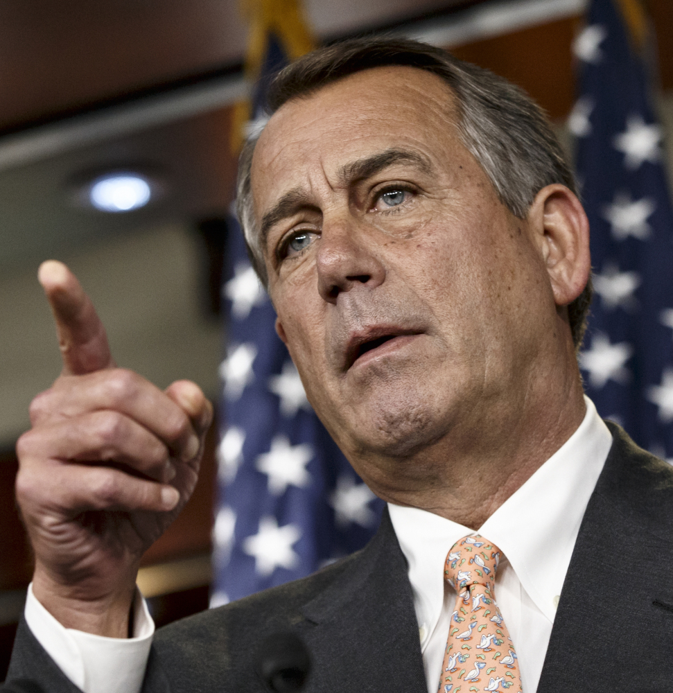 House Speaker John Boehner of Ohio