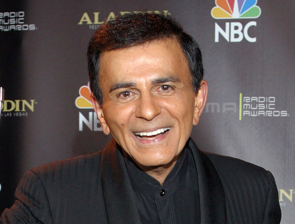 In this 2003, photo, Casey Kasem poses for photographers after receiving the Radio Icon award during The Radio Music Awards in Las Vegas.