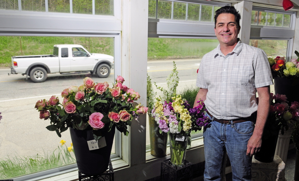 Road problem: Scott O'Brien, owner of Augusta Florist, said he hopes the work on Mount Vernon Avenue will be done as quickly as possible.