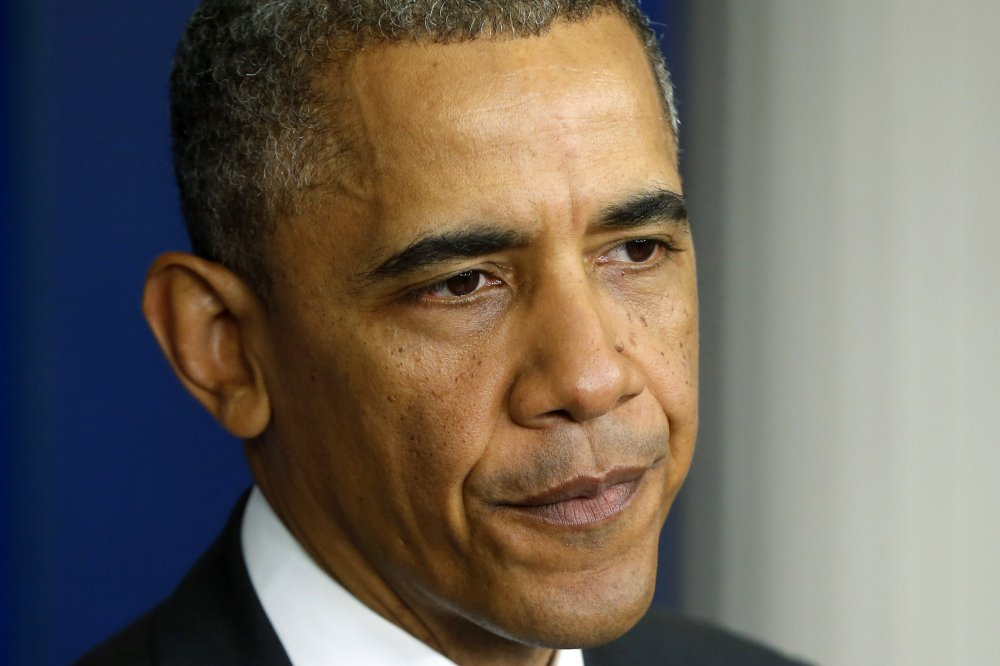 President Barack Obama pauses as he speaks to reporters at the White House on Wednesday, after he met with Veterans Affairs Secretary Eric Shinseki and Deputy Chief of Staff Rob Nabors.