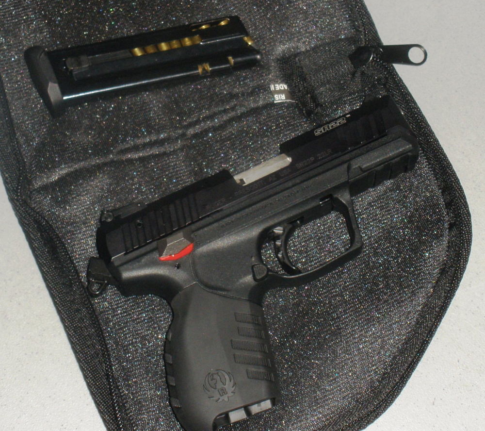 TSA officers found this handgun in a passenger's carry-on baggage at Bangor International Airport last Friday.