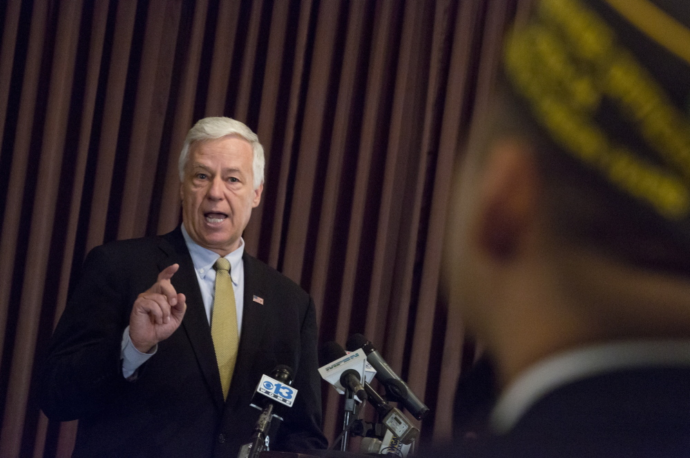 U.S. Rep. Mike Michaud held a news conference at VFW Deering Memorial Post 6859 on Forest Avenue in Portland on Friday to address his vote to authorize the issuance of a subpoena for three top VA officials. The subpoena would address the allegations that up to 40 veterans in Arizona died at the Phoenix VA while waiting for care.
