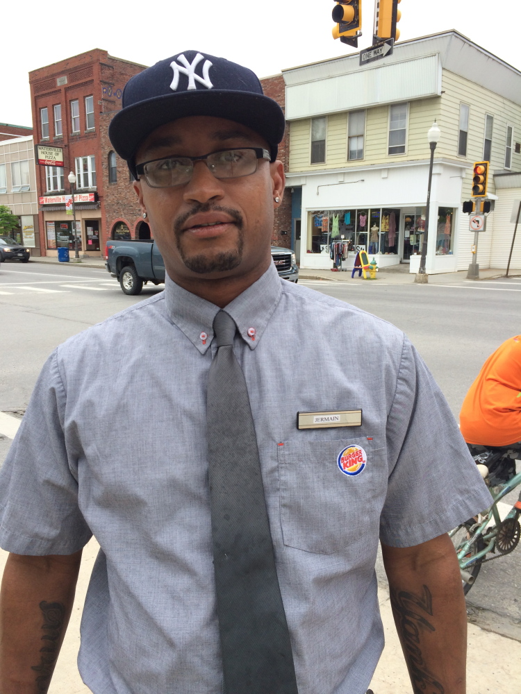 Bad idea: Jermain Martin, 39, a Waterville resident, said he thinks pay-as-you-throw trash disposal approved by City Council on Tuesday would be difficult for those on a fixed income to afford.
