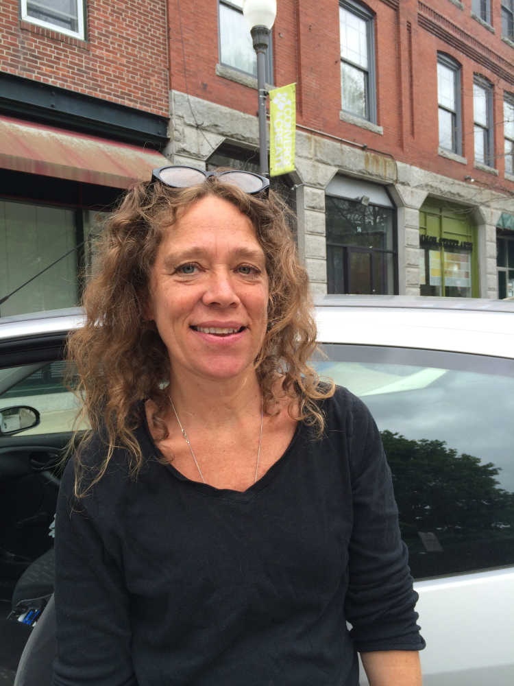 GOOD IDEA: Denise Rohdin, 52, a Waterville resident, says she thinks the city's proposed pay-as-you-throw trash disposal is a good idea because it could encourage more people to recycle and minimize their waste.