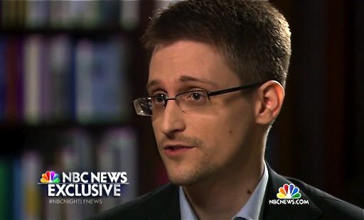 This image taken from video provided by NBC News shows Edward Snowden, a former National Security Agency (NSA) contractor, during an interview with NBC News anchor Brian Williams.