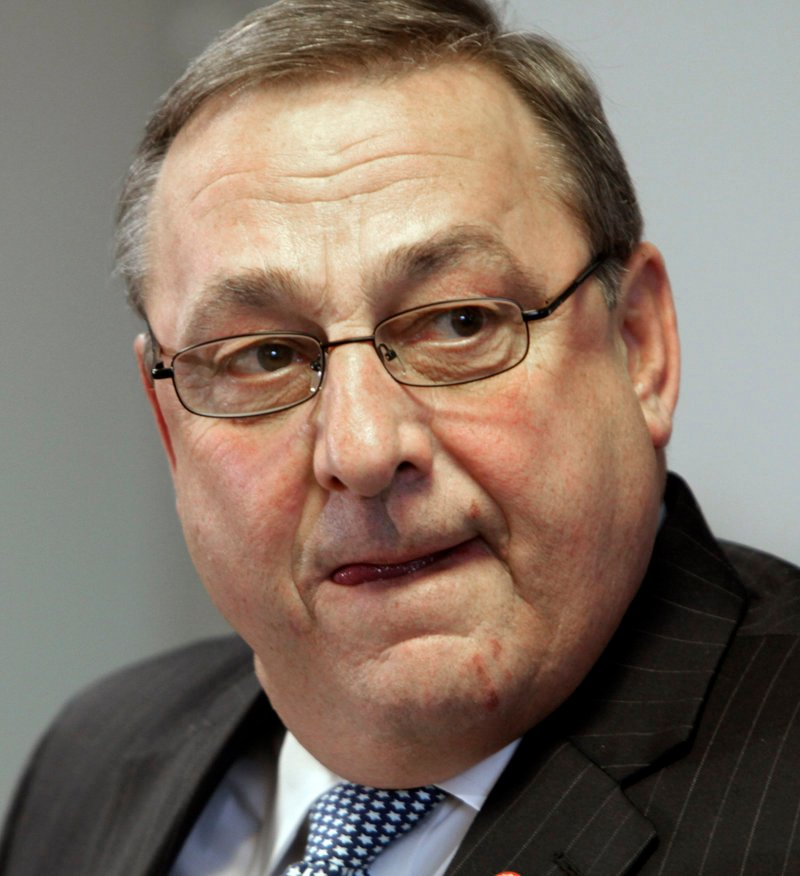 Gov. Paul LePage met Thursday with Brig. Gen. James Campbell.