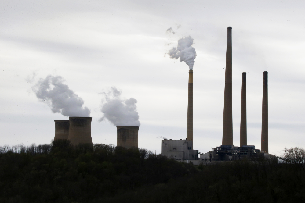 This file photo taken May 5, 2014, shows the stacks of the Homer City Generating Station in Homer City, Pa., one of the nation's dirtiest coal-fired power plants. Such power plants could be subject to new rules to limit and reduce global warming pollutants.