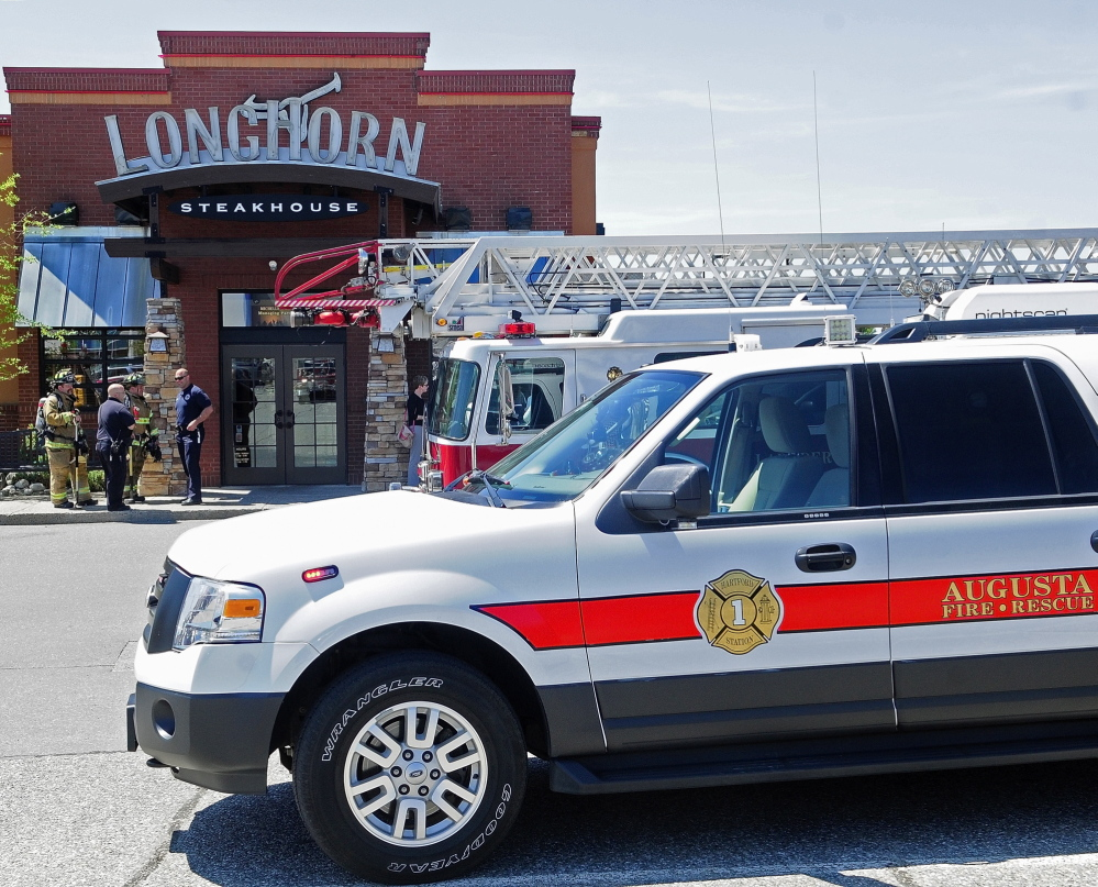 NORTH AUGUSTA RESPONSE: Augusta firefighters responded to what turned out to be a false alarm on Tuesday at Longhorn Steakhouse in the Marketplace at Augusta. There is a proposal to build a new firehouse at Leighton Road and Anthony Avenue that would be closer to that restaurant and other development in north Augusta.