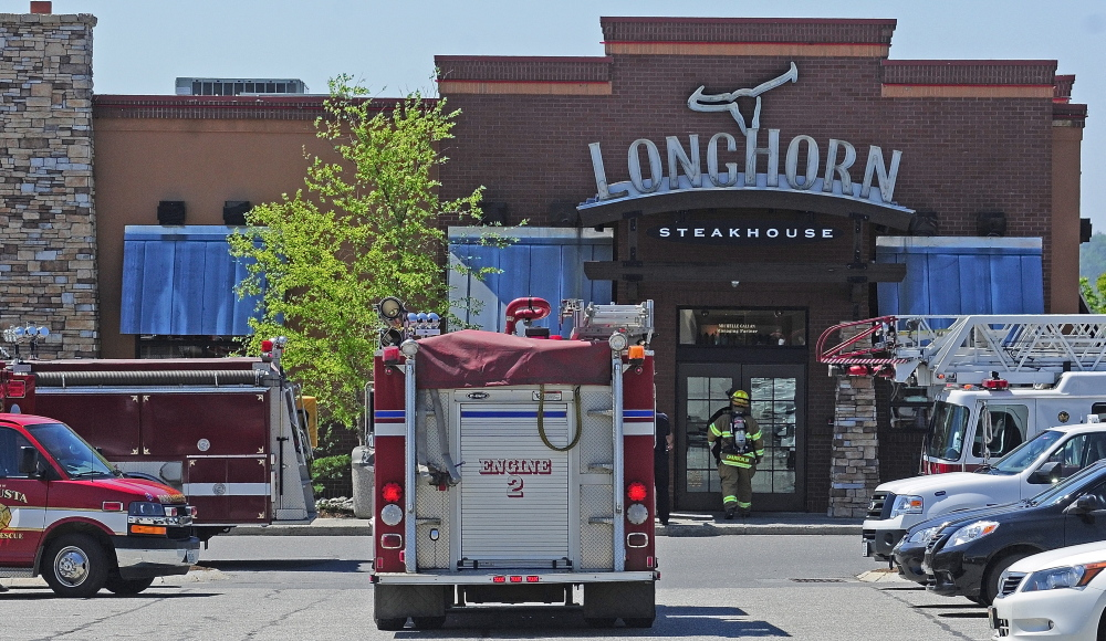 NORTH AUGUSTA RESPONSE: Augusta firefighters responded to what turned out to be a false alarm on Tuesday at Longhorn Steakhouse in the Marketplace at Augusta.