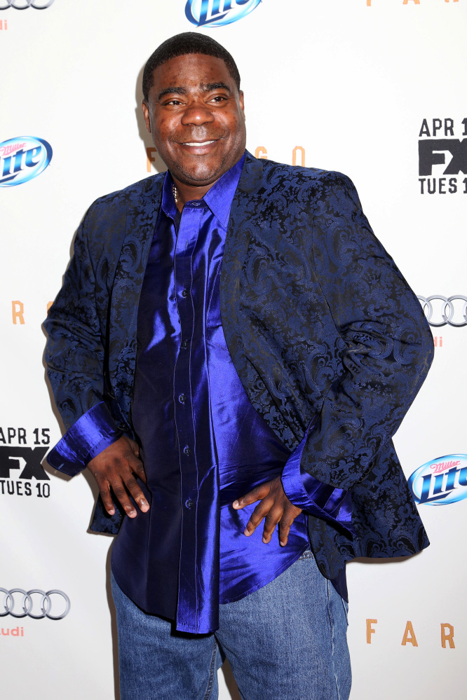 """The Associated Press In this file photo actor Tracy Morgan attends the FX Networks Upfront premiere screening of """"Fargo"""" at the SVA Theater. Morgan is in critical condition at a hospital in New Brunswick, N.J. Saturday morning June 7 following a violent multi-vehicle crash on the NJ Turnpike overnight."""