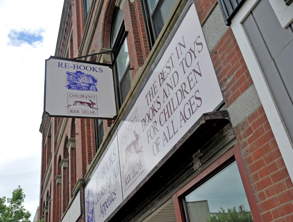 Staff photo by Michael G. Seamans FACE-LIFT: Children's Book Cellar in downtown Waterville will get a facelift thanks to a grant from bestselling author James Patterson.