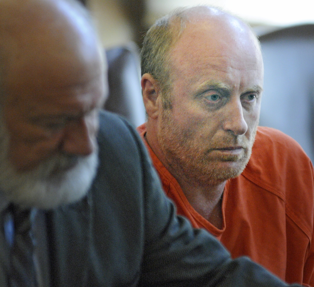 AUGUSTA, ME - JUNE 9: Roland Cummings, 44, appeared in Kennebec County Superior Court on a charge of murdering Aurele Fecteau on Monday June 9, 2014.