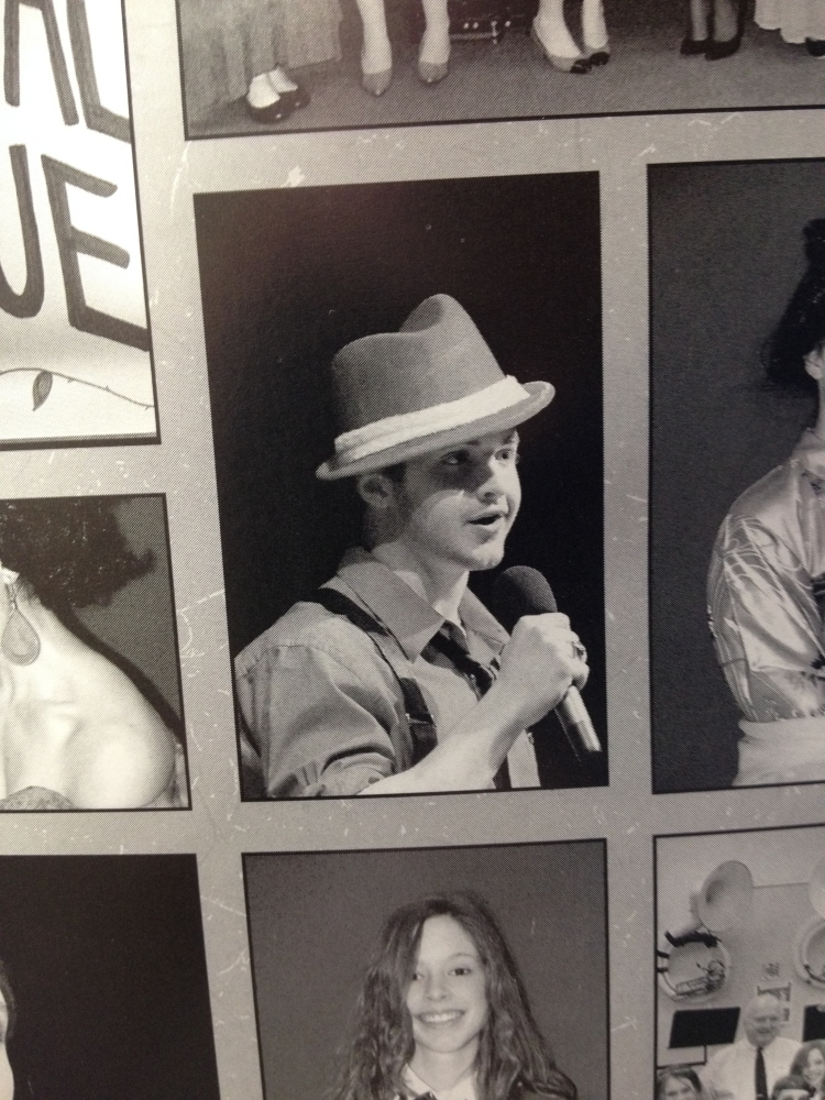 "Contributed Photo HIGH SCHOOL YEARS: During his high school years, a period he described as ""the worst,"" Dom Colizzi went from being a football player to a performer in theatrical musicals. This photo is from the Messalonskee High School yearbook."