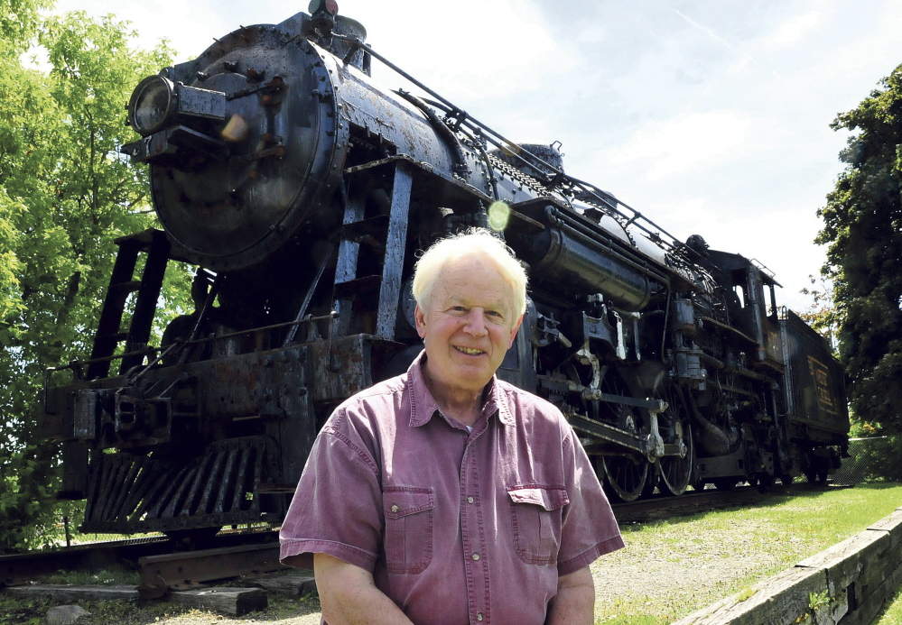 MOVING ON: Bill Alexander is the interim treasurer of the New England Steam Corp. that plans to purchase, move and restore the 470 steam locomotive in Waterville on Monday.