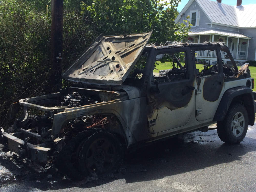 CAR FIRE: A rural carrier for the U.S. Postal Service caught fire Monday afternoon on Horseback Road in Anson. The vehicle was destroyed by a fire that originated from the engine.