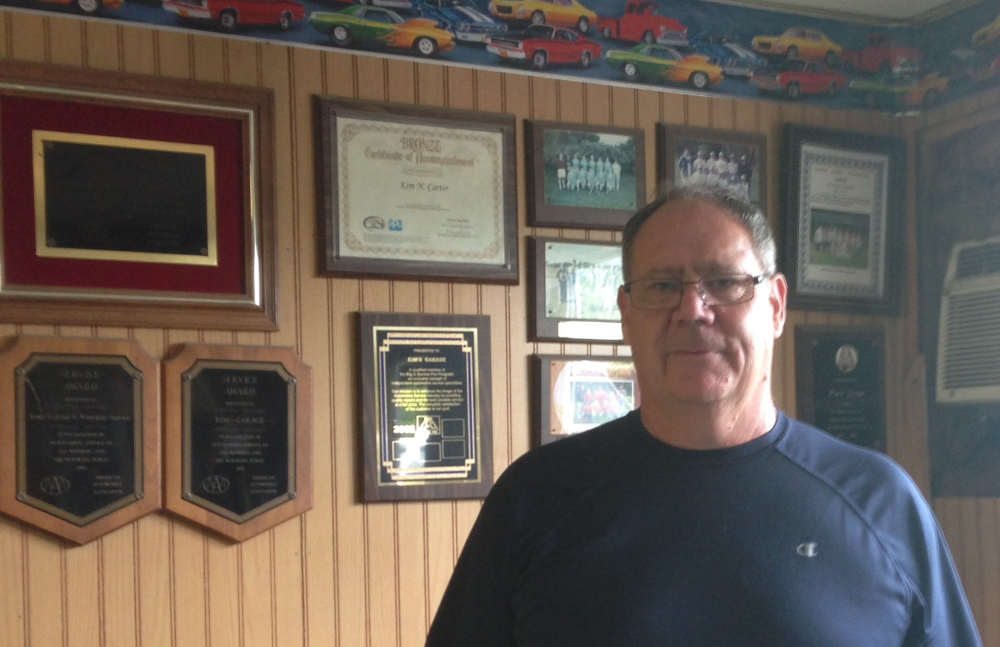 GRAND MARSHAL: Kim Carter, proprietor of Kim's Garage in Winslow has been named grand marshal of the town's Four of July parade.