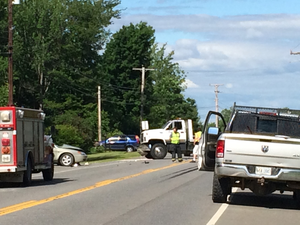 Crash: A 72-year-old woman was taken to a Bangor hospital by helicopter following an accident Saturday on White School House Road in Madison.