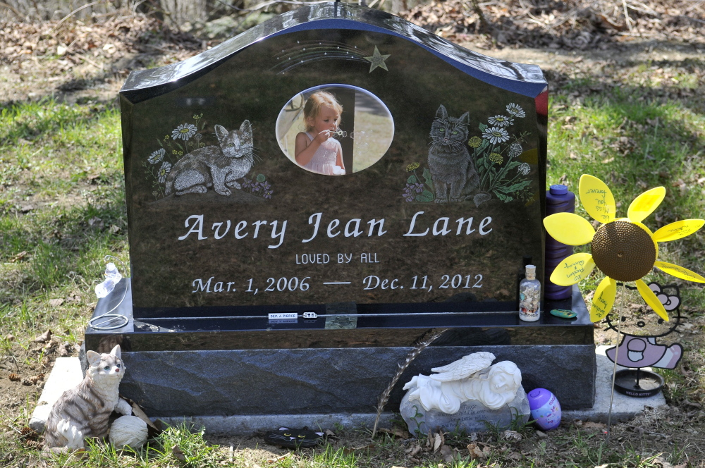 The grave of 6-year-old Avery Lane was restored after her gravesite was vandalized in May. Police say a reward fund has failed to produce clues and the reward money will be returned to donors if no new evidence is found by July 1.