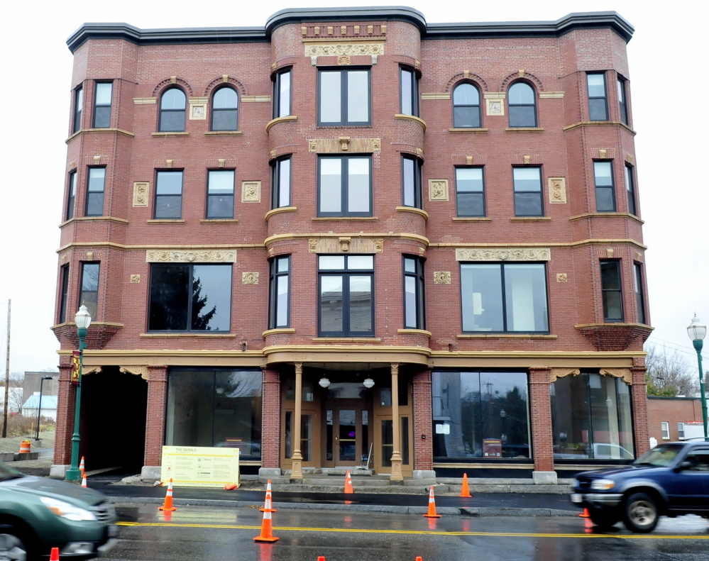 The former Gerald Hotel on Main Street in Fairfield, seen here in November while it was being renovated, will be open for tours Thursday. Tenants began moving into the building, now a residence for seniors, shortly after the photo was taken.