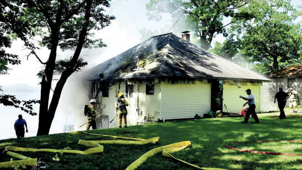 The state fire marshal's office said that a fire that damaged a Smithfield home last Wednesday was caused when two wires inside inside an exterior wall came in contact with each other and overheated.