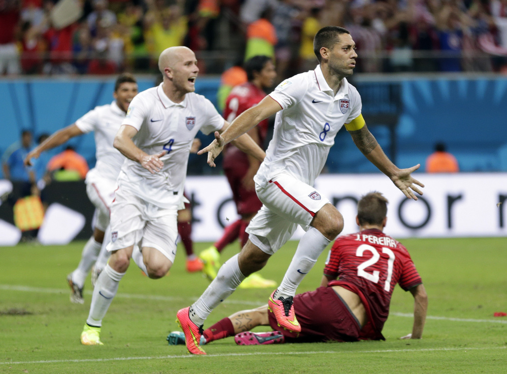 United States midfielder Michael Bradley (4) missed an easy scoring opportunity and stripped of the ball that led to the game-tying goal in the team's 2-2 tie with Portugal on Sunday.