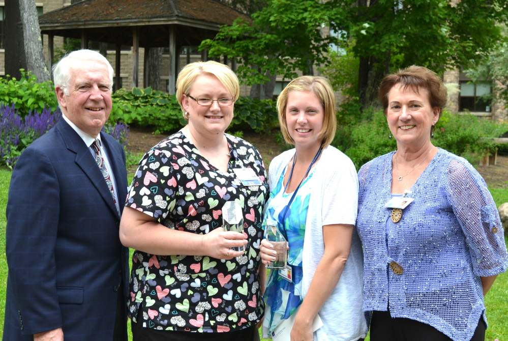 Contributed photo EPIC Awards were recently presented to Franklin Community Health Network staff. From left are Joseph Bujold, Liza Gallant, Ashley Hayden, and Joline Hart. Absent were Susan Theiss and Dan Morrell.