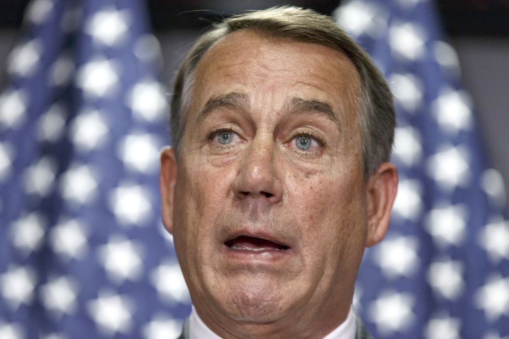 """House Speaker John Boehner of Ohio: """"This is about defending the institution in which we serve."""""""