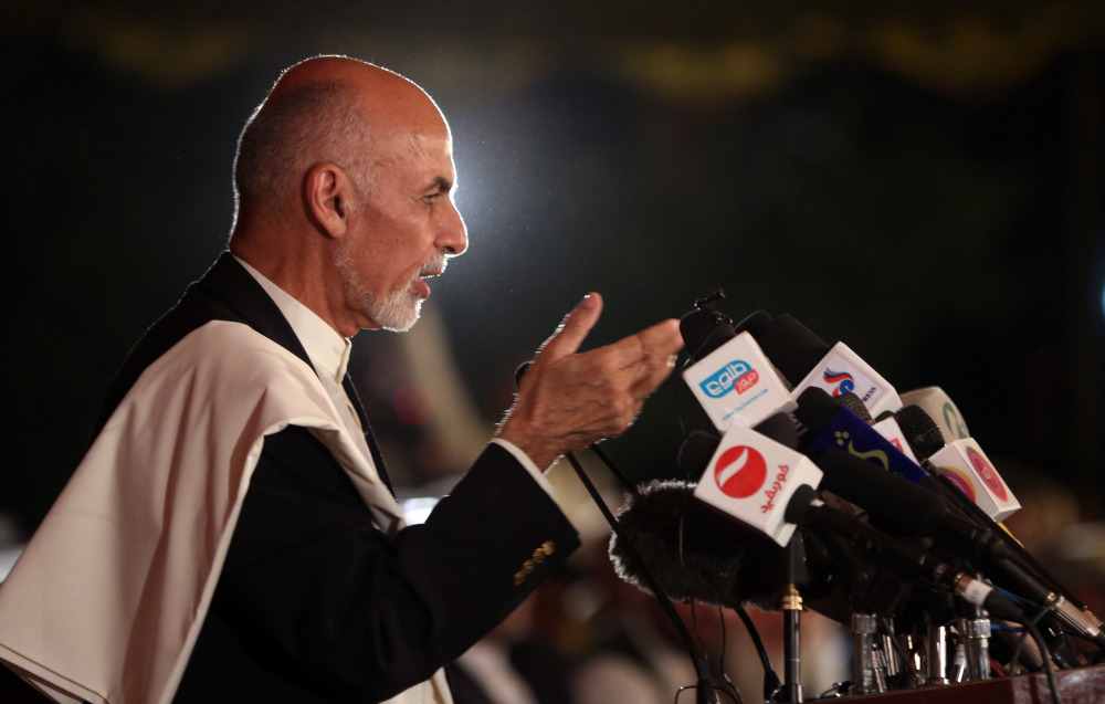 Afghanistan's presidential candidate Ashraf Ghani Ahmadzai on Wednesday demanded that the election commission stick to the official timetable for releasing preliminary results next week.