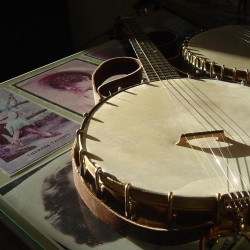 The history of the banjo will be a topic of discussion at 2 p.m. Saturday at Hallowell's Hubbard Library.