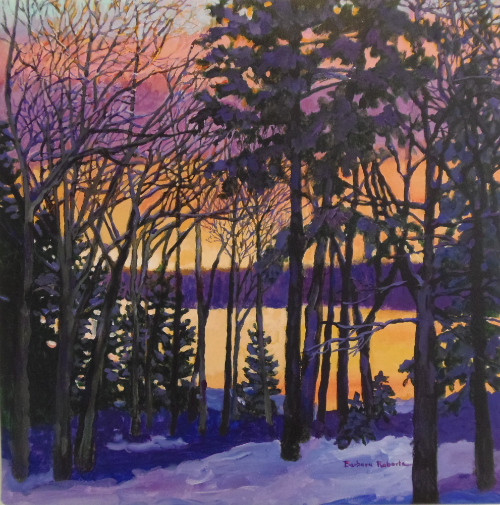 Oil painting by Barbara Roberts of Phippsburg.