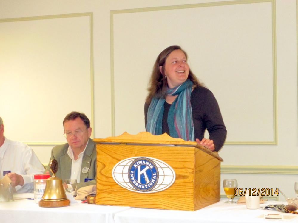 Amber Lambke, president of the Somerset Grist Mill, LLC, Skowhegan and executive director of the Maine Grain Alliance, gave members of the Augusta Kiwanis Club a look inside the processing of all-natural and certified organic grains at a recent club meeting. Lambke told club members she hopes to help bring economic vitality back to Skowhegan by reviving the region's centuries-old artisan grain cultivating and processing industry, according to a news release. Lambke also operates The Pickup Cafe at the Somerset Grist Mill, a cafe specializing in farm fresh local food.