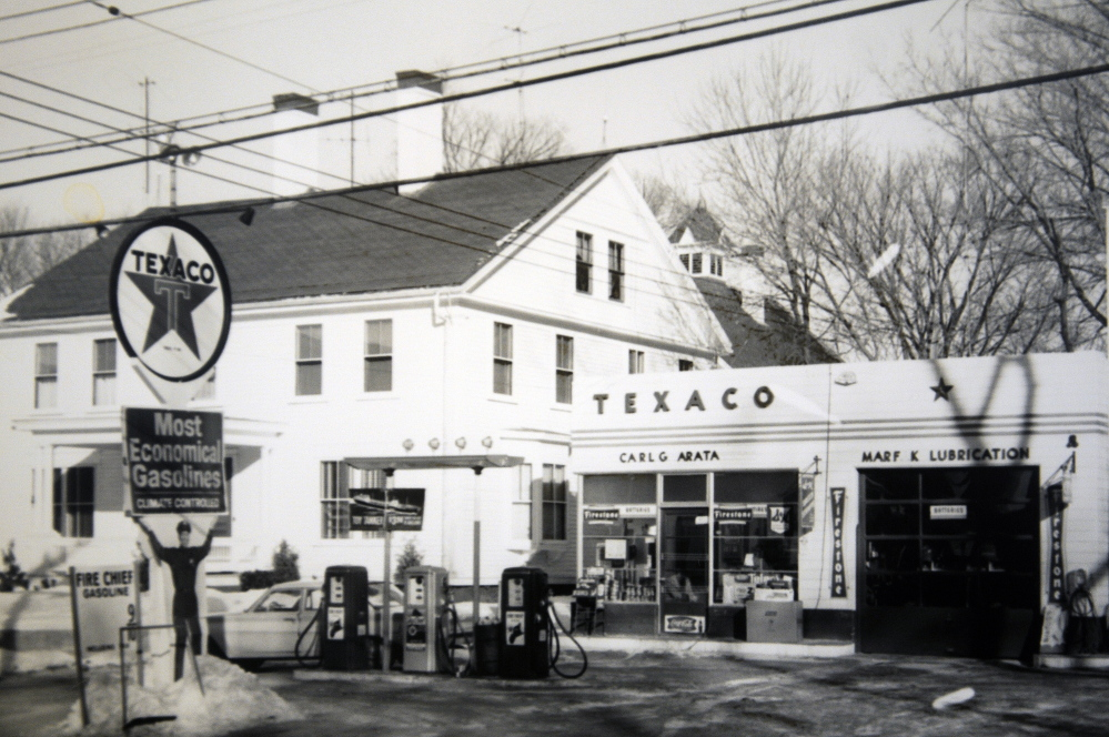 The service station that Carl Arata once operated in Winthrop.