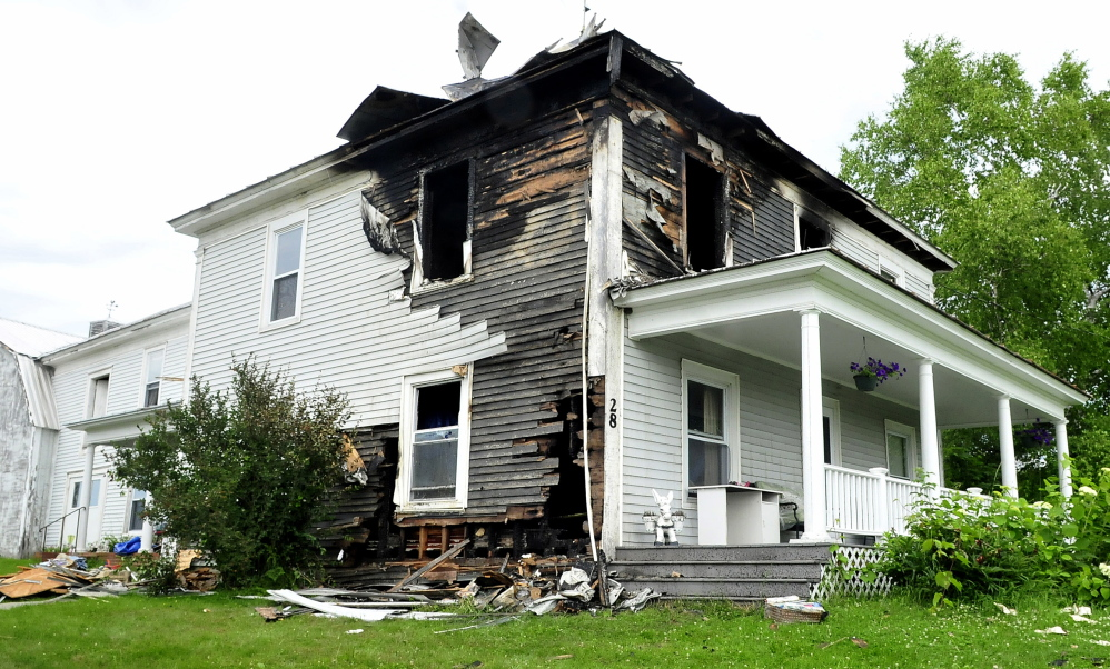 The Martha Walker home on Hilltop Road in Anson suffered serious damage from a fire on Sunday.