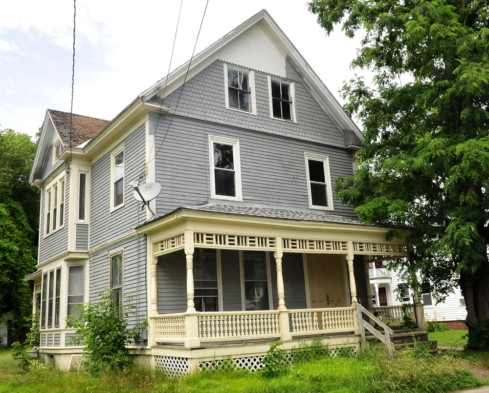 CAP.cutline_standalone:This home at 7 Summer Street in Waterville was the scene where Kevin Hubert and Sean Rancourt were caught by police stealing copper.