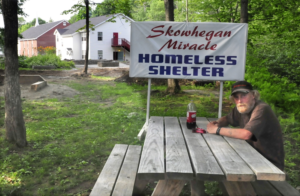 """Tom Madore, a resident at the homeless shelter beside the Trinity Evangelical Free Church in Skowhegan said Tuesday, July 8, 2014, he heard about the theft of medications and said, """"That's not good."""""""