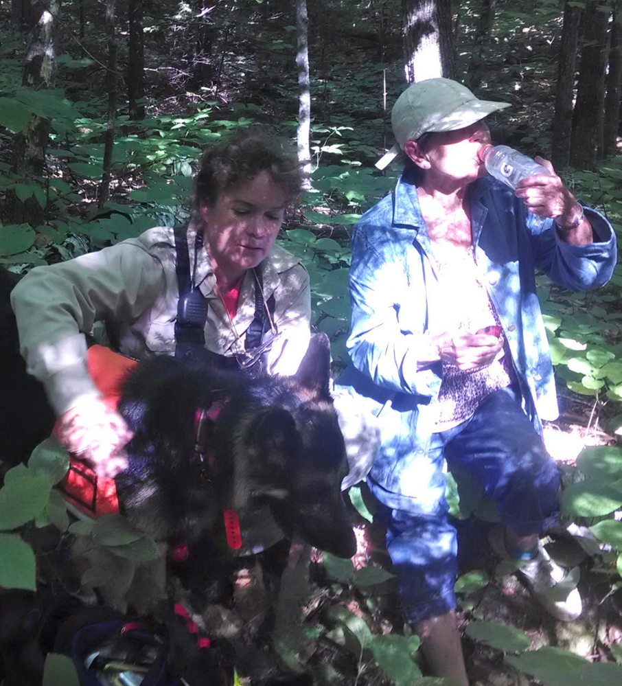 Last week's successful search for Ruth Brennan of South Portland has highlighted the interest in new technology that can help searchers find someone who is at risk of getting lost. Courtesy Maine Warden Service