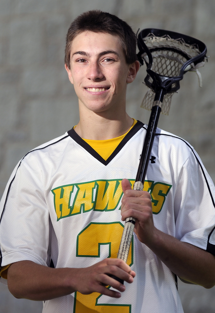 Maranacook/Winthrop's Toby Smith is the Kennebec Journal/Morning Sentinel Boys Lacrosse Player of the Year.